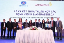 astrazeneca hop tac voi benh vien k va plan international