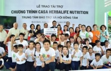 quy herbalife nutrition foundation tiep tuc ho tro dinh duong cho hon 800 em nho co hoan canh kho khan